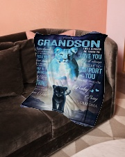 "To My Grandson - Grandma Small Fleece Blanket - 30"" x 40"" aos-coral-fleece-blanket-30x40-lifestyle-front-05"