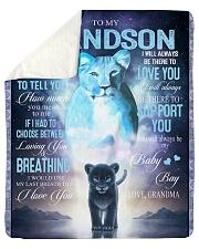 "To My Grandson - Grandma Sherpa Fleece Blanket - 50"" x 60"" thumbnail"