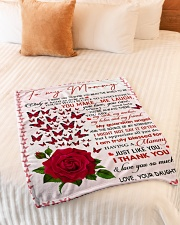 "To My Mommy - Daughter Small Fleece Blanket - 30"" x 40"" aos-coral-fleece-blanket-30x40-lifestyle-front-01"