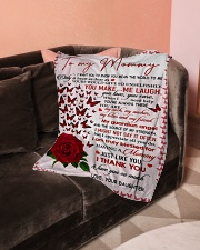 "To My Mommy - Daughter Small Fleece Blanket - 30"" x 40"" aos-coral-fleece-blanket-30x40-lifestyle-front-05"