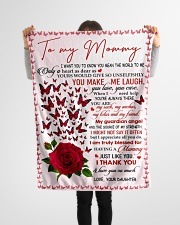 "To My Mommy - Daughter Small Fleece Blanket - 30"" x 40"" aos-coral-fleece-blanket-30x40-lifestyle-front-14"