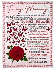 "To My Mommy - Daughter Small Fleece Blanket - 30"" x 40"" front"