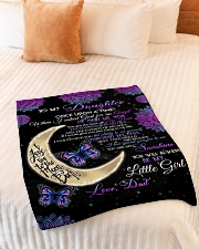 """To My Daughter-Dad Small Fleece Blanket - 30"""" x 40"""" aos-coral-fleece-blanket-30x40-lifestyle-front-01"""
