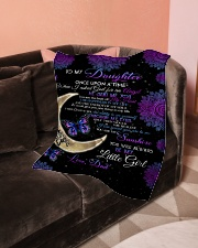 """To My Daughter-Dad Small Fleece Blanket - 30"""" x 40"""" aos-coral-fleece-blanket-30x40-lifestyle-front-05"""