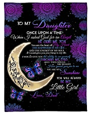 """To My Daughter-Dad Small Fleece Blanket - 30"""" x 40"""" front"""