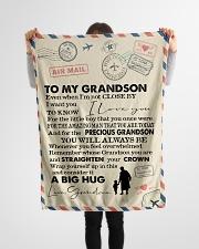 "To My Grandson- Grandma Small Fleece Blanket - 30"" x 40"" aos-coral-fleece-blanket-30x40-lifestyle-front-14"