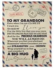"To My Grandson- Grandma Small Fleece Blanket - 30"" x 40"" front"