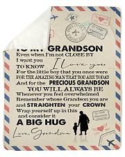 To My Grandson- Grandma Sherpa Fleece Blanket tile