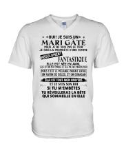 April Wife V-Neck T-Shirt tile