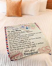 """To My  Mom -  Daughter Small Fleece Blanket - 30"""" x 40"""" aos-coral-fleece-blanket-30x40-lifestyle-front-01"""