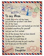 """To My  Mom -  Daughter Small Fleece Blanket - 30"""" x 40"""" front"""