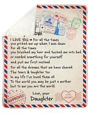"To My  Mom -  Daughter Sherpa Fleece Blanket - 50"" x 60"" thumbnail"