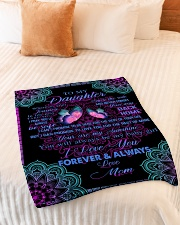 """To My Daughter- Mom Small Fleece Blanket - 30"""" x 40"""" aos-coral-fleece-blanket-30x40-lifestyle-front-01"""