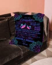 """To My Daughter- Mom Small Fleece Blanket - 30"""" x 40"""" aos-coral-fleece-blanket-30x40-lifestyle-front-05"""