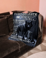 "To My Delante- Dad Small Fleece Blanket - 30"" x 40"" aos-coral-fleece-blanket-30x40-lifestyle-front-05"