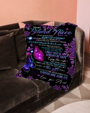 """To My Beloved  Niece Small Fleece Blanket - 30"""" x 40"""" aos-coral-fleece-blanket-30x40-lifestyle-front-05"""