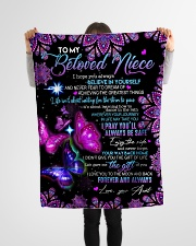 """To My Beloved  Niece Small Fleece Blanket - 30"""" x 40"""" aos-coral-fleece-blanket-30x40-lifestyle-front-14"""