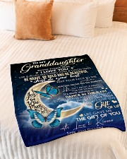 "To My GrandDaughter - Grandma Small Fleece Blanket - 30"" x 40"" aos-coral-fleece-blanket-30x40-lifestyle-front-01"