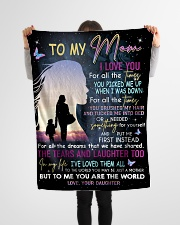 """To My Mom Small Fleece Blanket - 30"""" x 40"""" aos-coral-fleece-blanket-30x40-lifestyle-front-14"""
