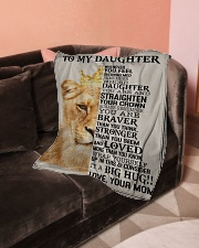 "To My Daughter - Mom Small Fleece Blanket - 30"" x 40"" aos-coral-fleece-blanket-30x40-lifestyle-front-05"