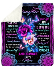 To My Daughter - Mom Sherpa Fleece Blanket tile