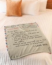 "To My Wife  Small Fleece Blanket - 30"" x 40"" aos-coral-fleece-blanket-30x40-lifestyle-front-01"