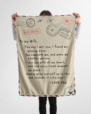 "To My Wife  Small Fleece Blanket - 30"" x 40"" aos-coral-fleece-blanket-30x40-lifestyle-front-14"