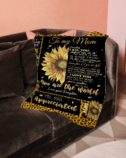 """To My Mom Small Fleece Blanket - 30"""" x 40"""" aos-coral-fleece-blanket-30x40-lifestyle-front-05"""