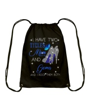 I Have Two Titles Mom And Gema Drawstring Bag tile
