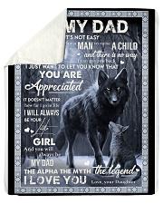 To My Dad Sherpa Fleece Blanket tile