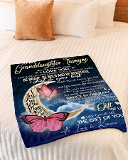 "To My Granddaughter- Grandma Small Fleece Blanket - 30"" x 40"" aos-coral-fleece-blanket-30x40-lifestyle-front-01"