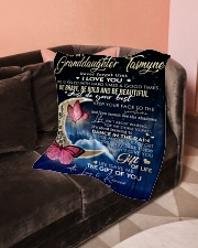 "To My Granddaughter- Grandma Small Fleece Blanket - 30"" x 40"" aos-coral-fleece-blanket-30x40-lifestyle-front-05"