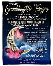 "To My Granddaughter- Grandma Small Fleece Blanket - 30"" x 40"" front"