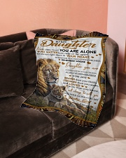 """To My Daughter - Dad Small Fleece Blanket - 30"""" x 40"""" aos-coral-fleece-blanket-30x40-lifestyle-front-05"""