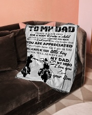"""To My Dad - Son Small Fleece Blanket - 30"""" x 40"""" aos-coral-fleece-blanket-30x40-lifestyle-front-05"""