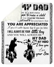 To My Dad - Son Sherpa Fleece Blanket tile