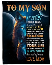 """To My Son - Mom Large Fleece Blanket - 60"""" x 80"""" front"""