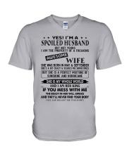 September Spoiler Husband V-Neck T-Shirt thumbnail