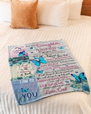 """To My Daughter - Dad Small Fleece Blanket - 30"""" x 40"""" aos-coral-fleece-blanket-30x40-lifestyle-front-01"""