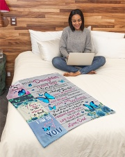 """To My Daughter - Dad Small Fleece Blanket - 30"""" x 40"""" aos-coral-fleece-blanket-30x40-lifestyle-front-08"""
