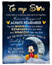"To My Son- mom Small Fleece Blanket - 30"" x 40"" front"