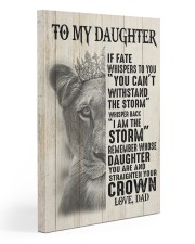 To My Daughter- Dad 20x30 Gallery Wrapped Canvas Prints front