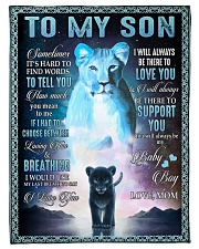 """To My Son- Mom Small Fleece Blanket - 30"""" x 40"""" front"""