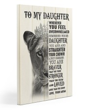 To My Daughter- Mom 20x30 Gallery Wrapped Canvas Prints front