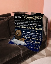 """To My Daughter- Dad Small Fleece Blanket - 30"""" x 40"""" aos-coral-fleece-blanket-30x40-lifestyle-front-05"""