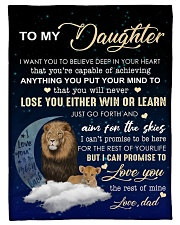 """To My Daughter- Dad Small Fleece Blanket - 30"""" x 40"""" front"""