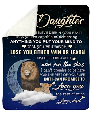 To My Daughter- Dad Sherpa Fleece Blanket tile