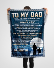 """To My Dad - Daughter Small Fleece Blanket - 30"""" x 40"""" aos-coral-fleece-blanket-30x40-lifestyle-front-14"""