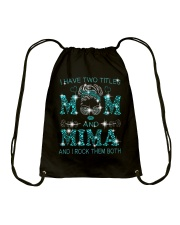 I Have Two Titles Mom And Mima Drawstring Bag tile