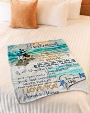 "To My Husband  Small Fleece Blanket - 30"" x 40"" aos-coral-fleece-blanket-30x40-lifestyle-front-01"